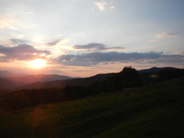 Abendsonne am Ciucas Gebirge