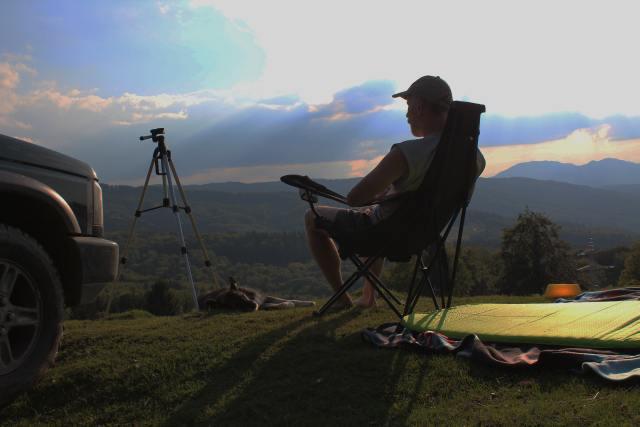 Entspannung im Sonnenuntergang