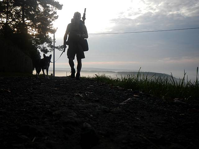 im Morgenlicht unterwegs