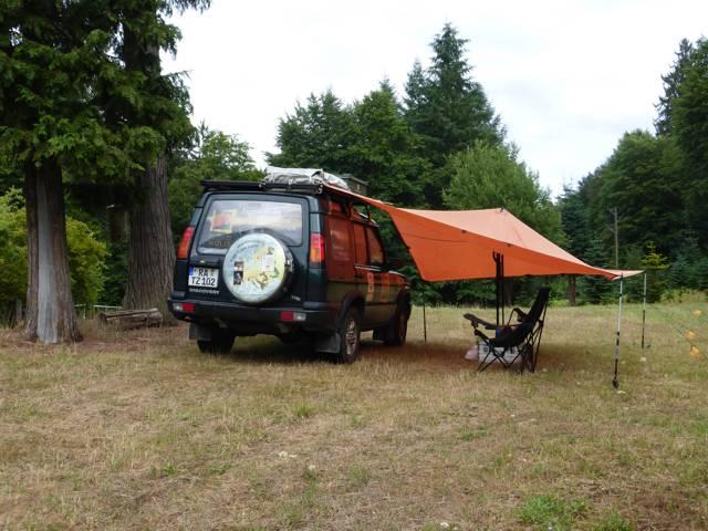 Tarpkonstruktion für Lager