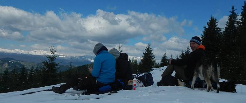 Wir hatten sogar Neuschnee runter bis auf etwa 1350m.