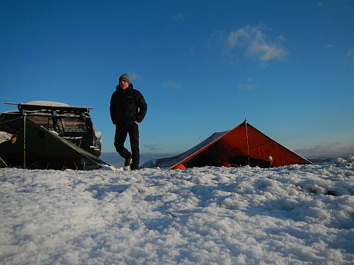 Wintercamp morgens